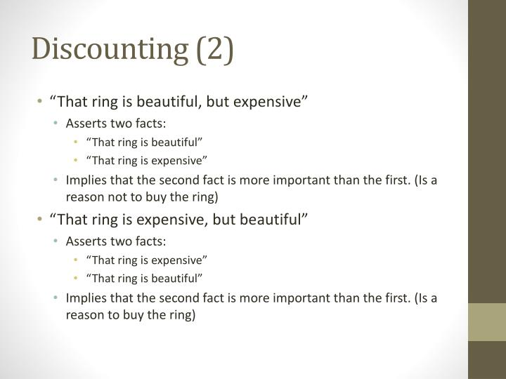 Discounting (2)