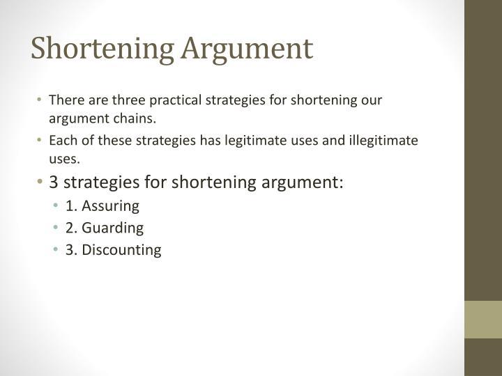 Shortening Argument