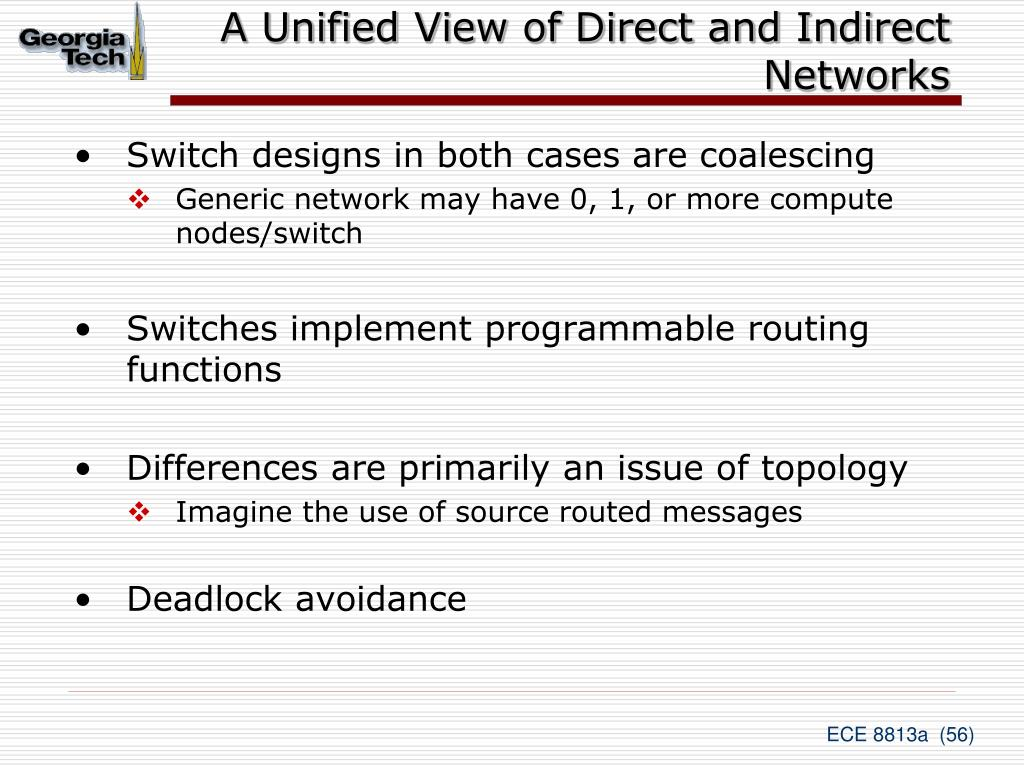 A Unified View of Direct and Indirect Networks