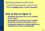 risk of bias is higher if