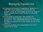 managing populations