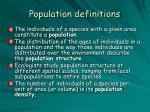 population definitions