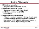 driving philosophy