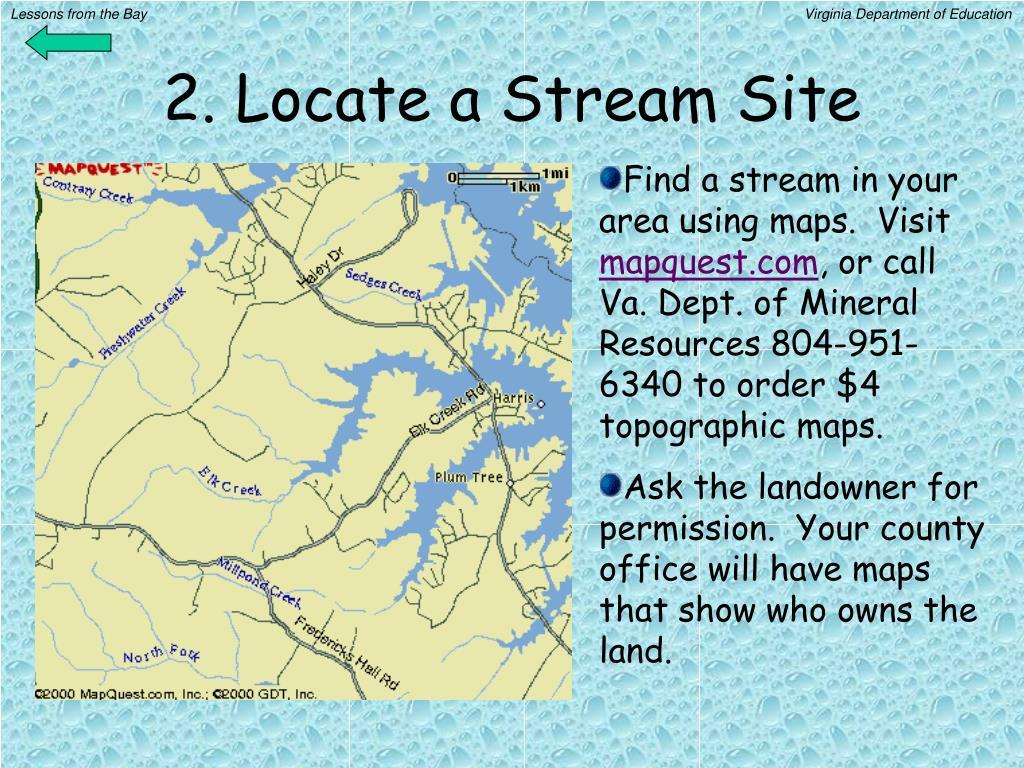 2. Locate a Stream Site