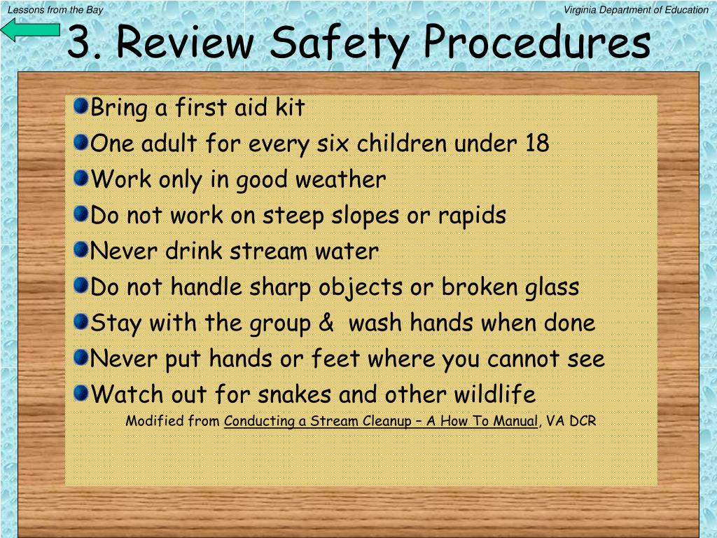3. Review Safety Procedures