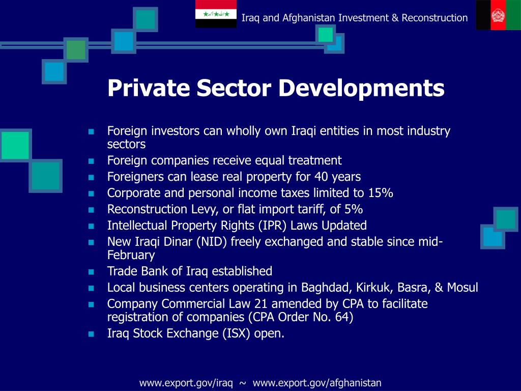 Private Sector Developments