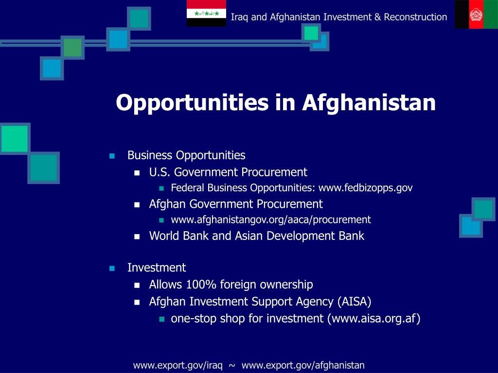 Opportunities in Afghanistan