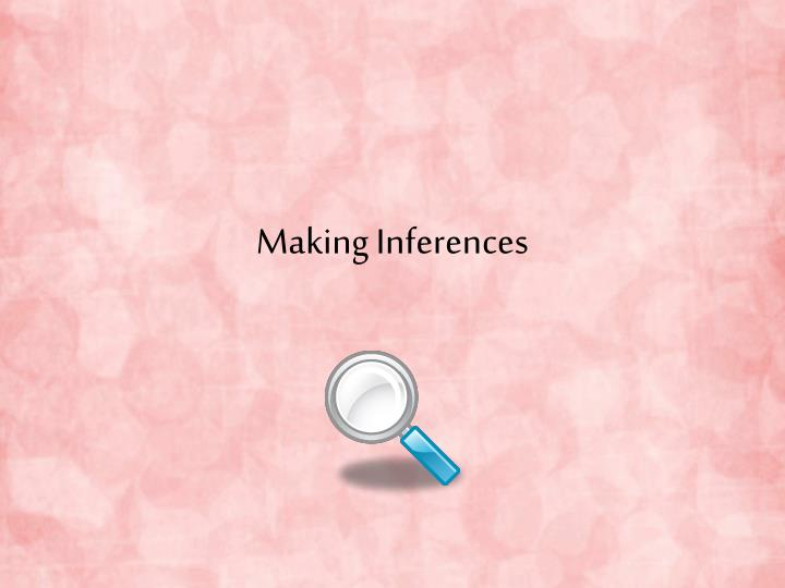 making inferences n.