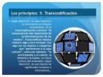 los principios 5 transcodificaci n