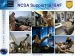 ncsa support to isaf
