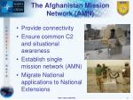 the afghanistan mission network amn