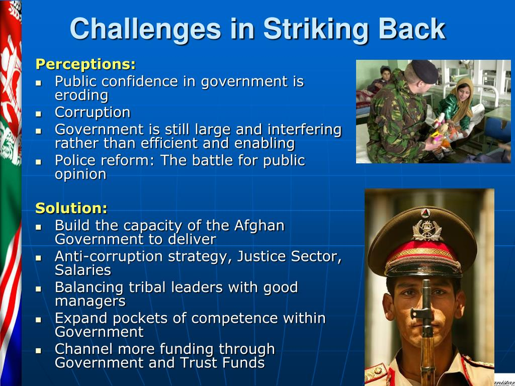 Challenges in Striking Back