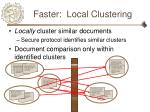 faster local clustering