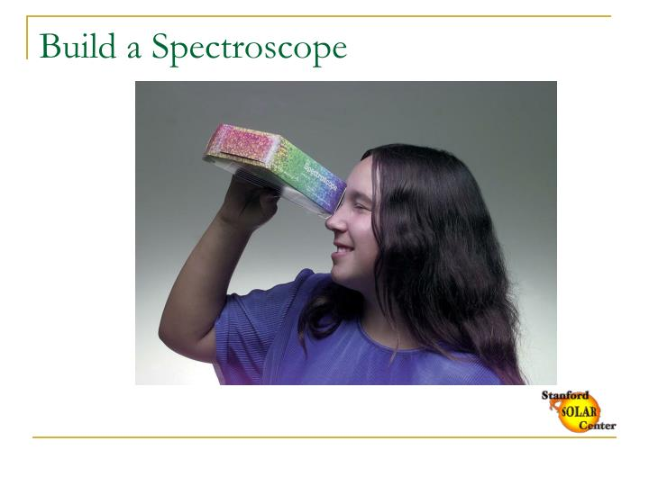 Build a spectroscope