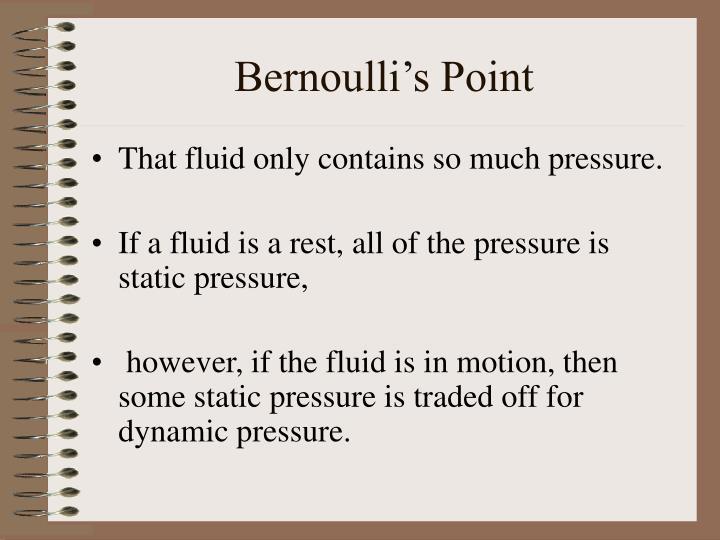 Bernoulli's Point