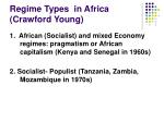 regime types in africa crawford young