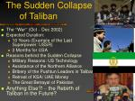 the sudden collapse of taliban