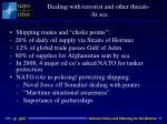 dealing with terrorist and other threats at sea