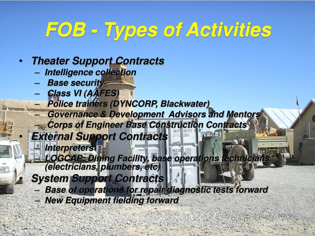 FOB - Types of Activities