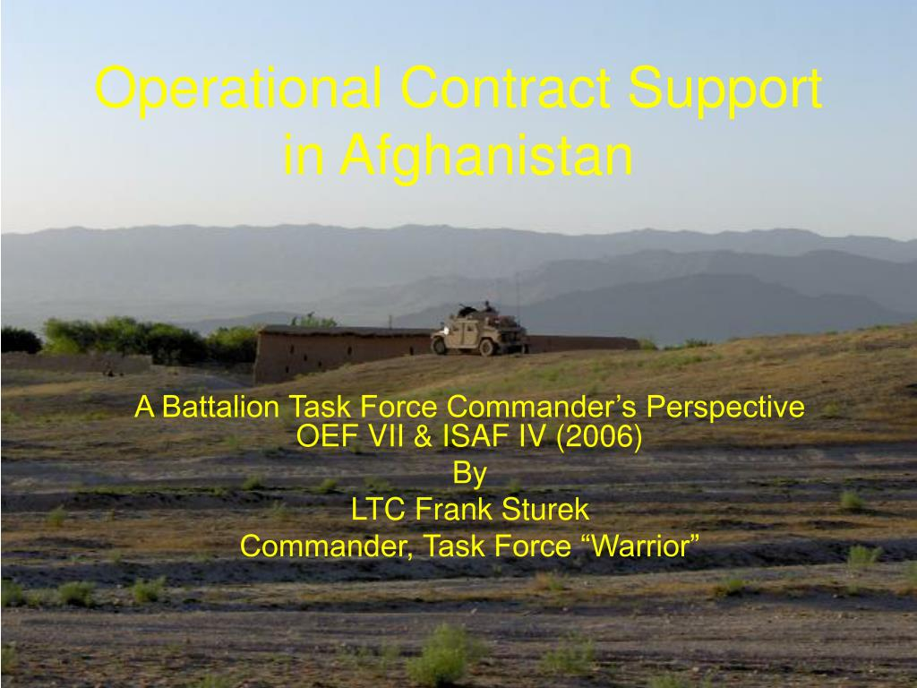operational contract support in afghanistan l.