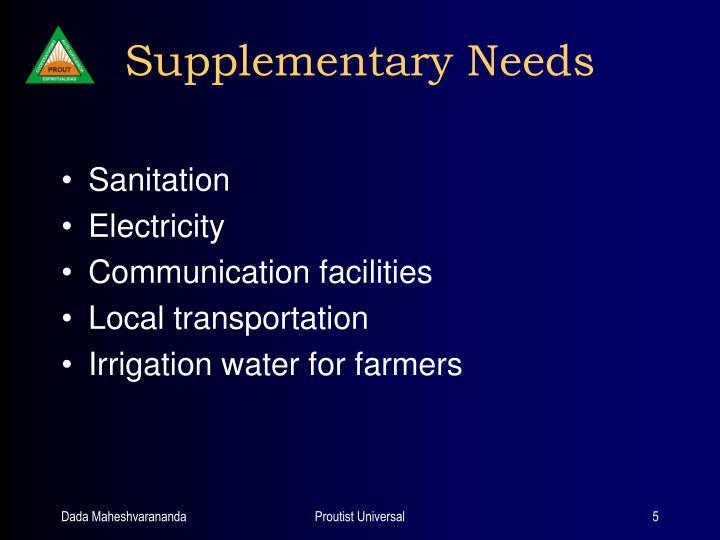 Supplementary Needs