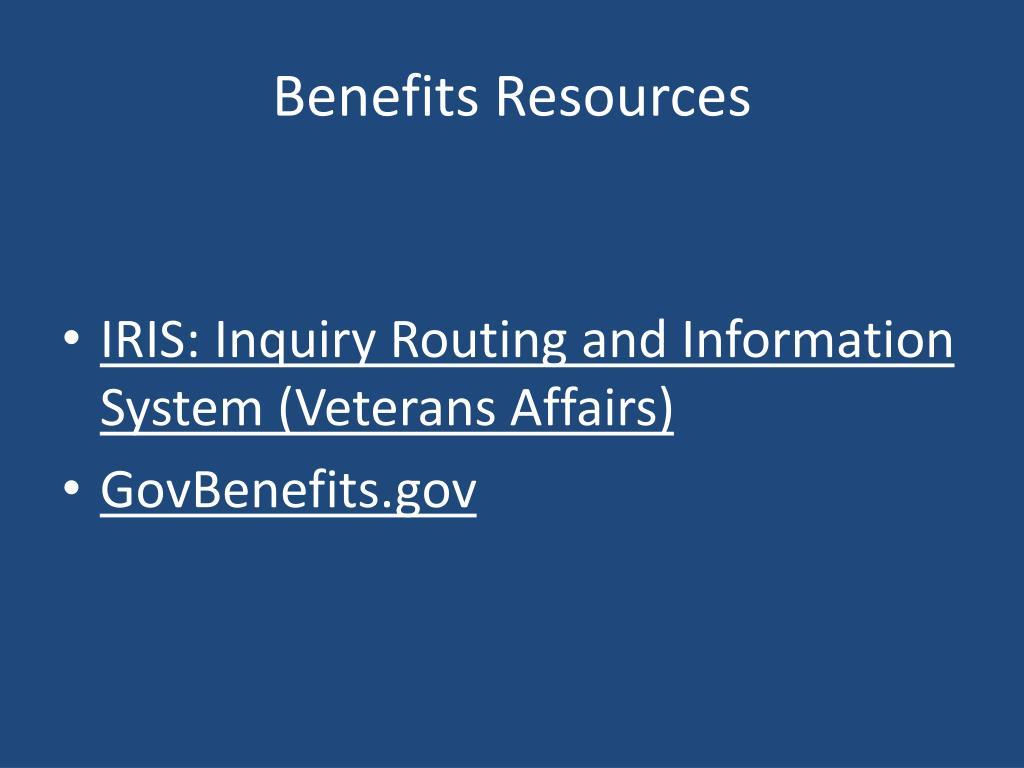 Benefits Resources
