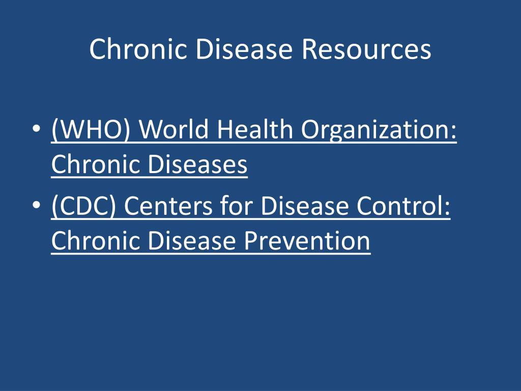Chronic Disease Resources