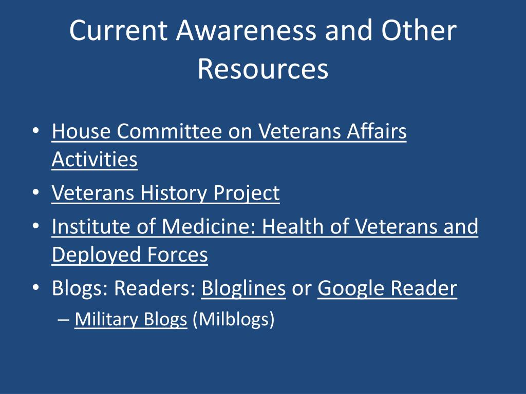 Current Awareness and Other Resources