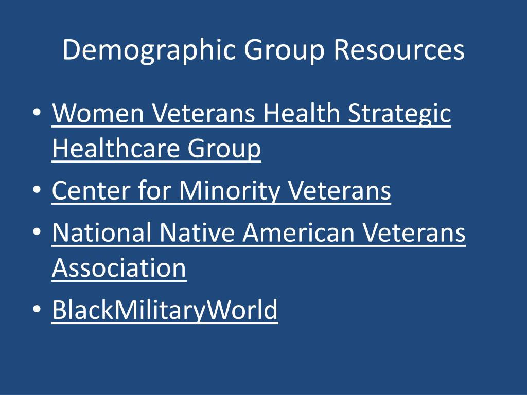 Demographic Group Resources