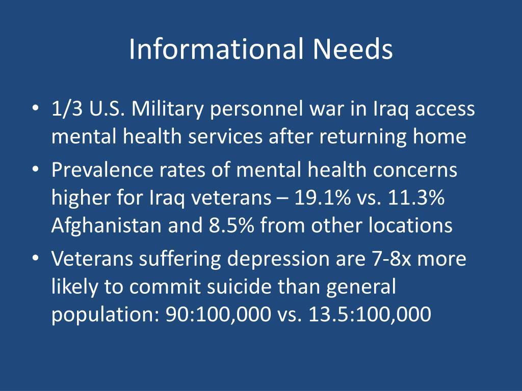 Informational Needs