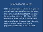informational needs6