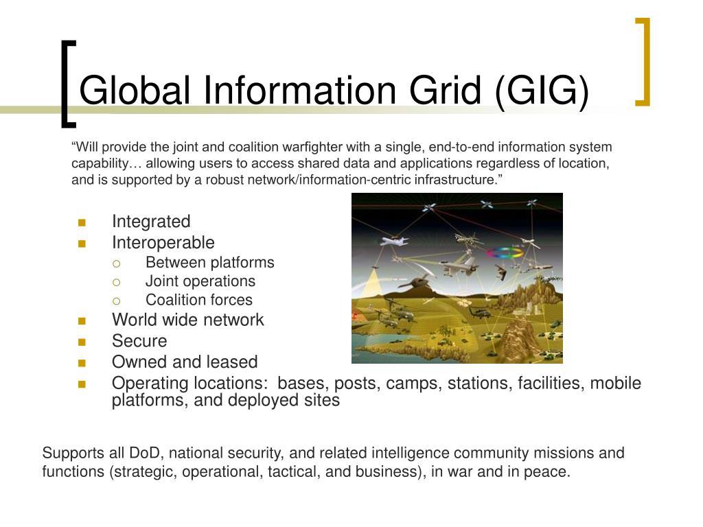 Global Information Grid (GIG)