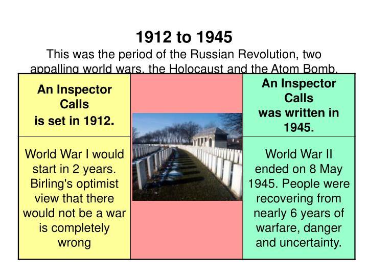 1912 to 1945