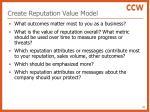 create reputation value model