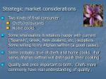 strategic market considerations