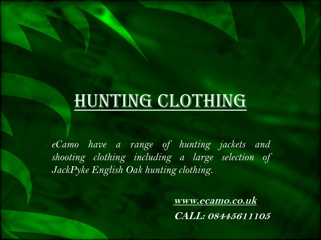 hunting clothing l.