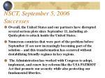 nsct september 5 2006 successes88