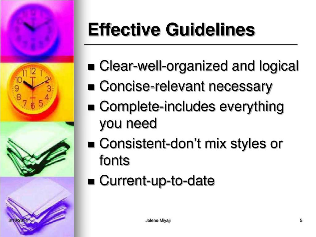 Effective Guidelines