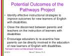 potential outcomes of the pathways project