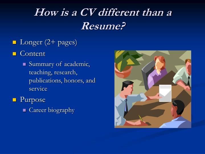 How is a cv different than a resume