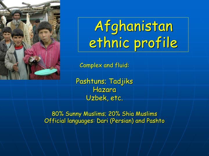 Afghanistan ethnic profile