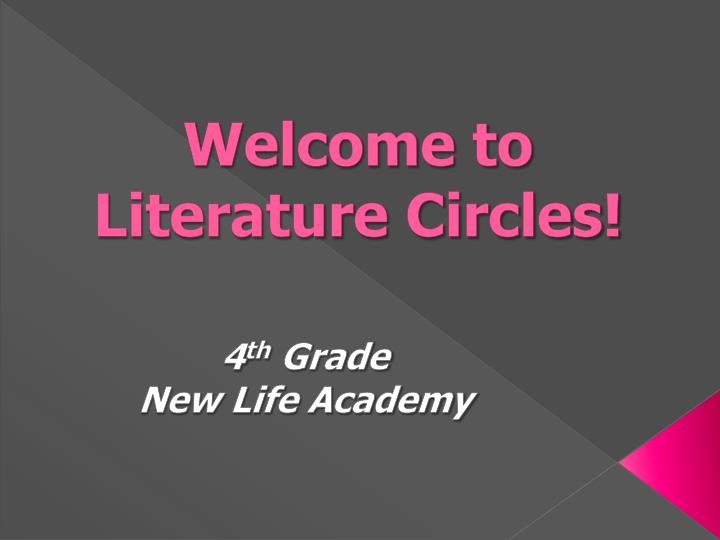 welcome to literature circles n.