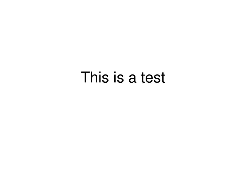 this is a test l.