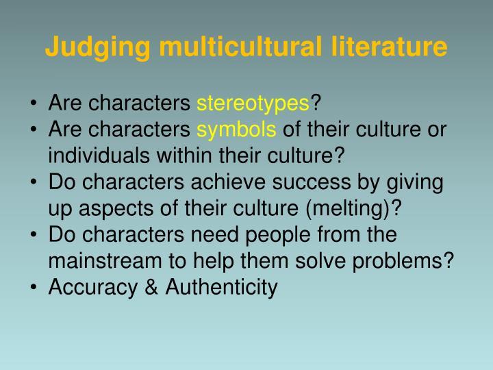 Judging multicultural literature