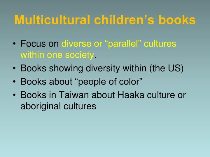Multicultural children s books