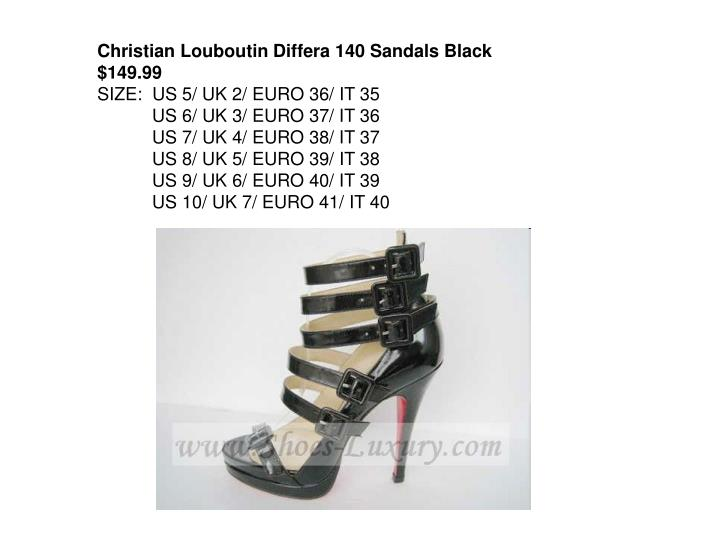 Christian Louboutin Differa 140 Sandals Black