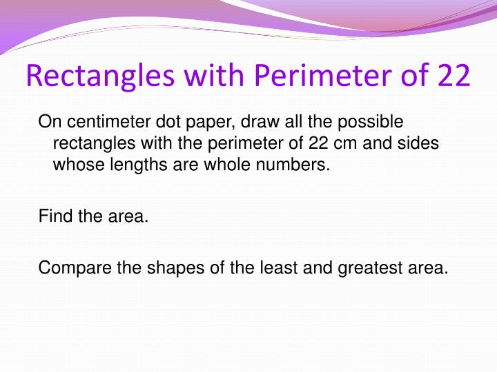 Rectangles with Perimeter of 22