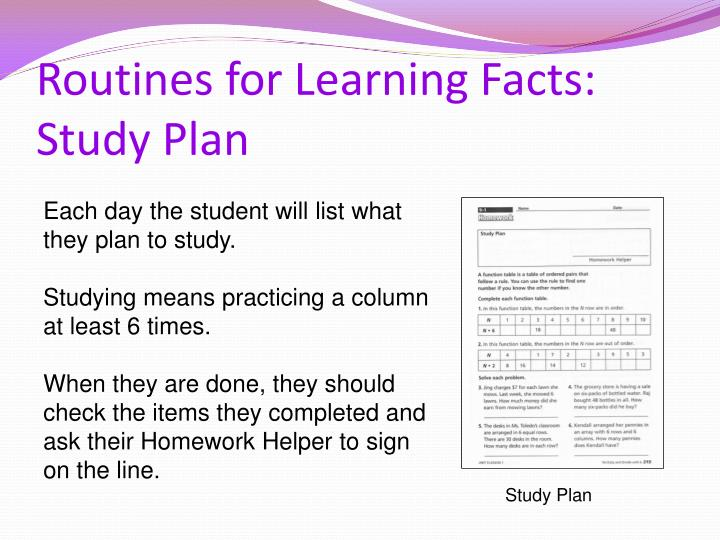 Routines for Learning Facts: