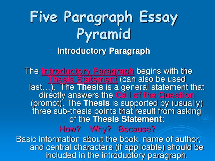 5 paragraph essay prompt Here's a sample outline for uc essay prompt 5 describe the challenge ideally, start with a specific example of that issue so the reader can get a glimpse of what it's like to be you.