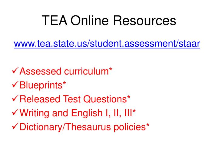Ppt getting ready for staar writing powerpoint presentation id tea online resources malvernweather Images